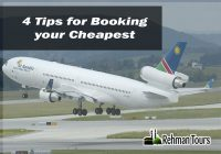 4 Tips for Booking your Cheapest Flight Tickets